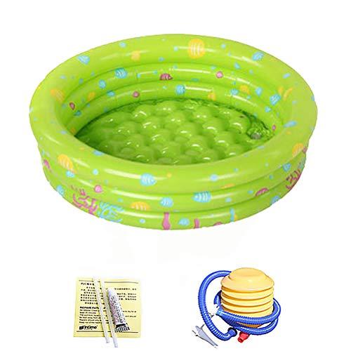 Portable opblaasbaar zwembad met pomp voor de zomer Partij van de Familie opblaasbaar kinderzwembad Bad Kids Oceaan Ball Pool,Green,100cm