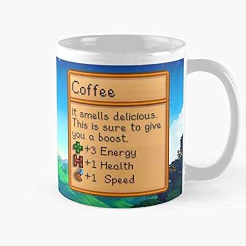 Younini Stardew Valley Coffee Best Cup tazas para tazas de mujer, vaso de cerámica, color rosa