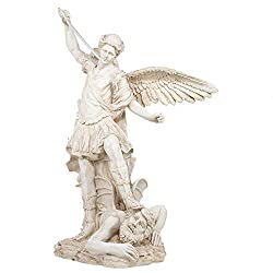 Leader of the Seven Archangels King Tut/'s Secret Archangel of Protection and Justice H: 10 inch White Archangel St Michael Statue