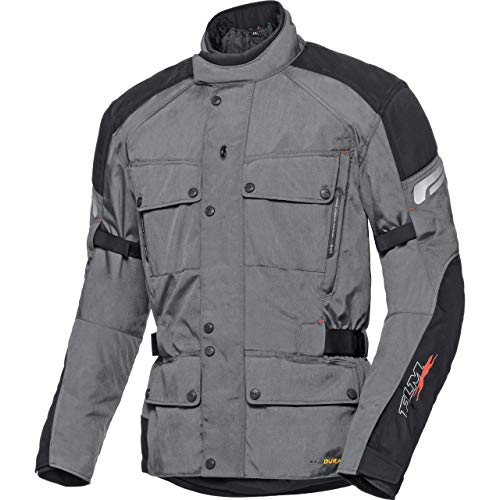 FLM Motorradjacke mit Protektoren Motorrad Jacke Touren Textiljacke 1.0 anthrazit/schwarz M (kurz), Herren, Tourer, Ganzjährig