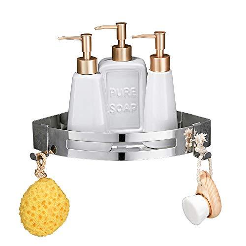 Wopeite Badezimmer Duschecke dreieckiges Eckregal Duschwand Duschregal Edelstahl, patentierter...
