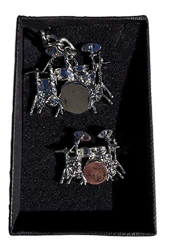 Kit de tambor de llavero y insignia Set de regalo–diseñado por bateristas para Bateristas.
