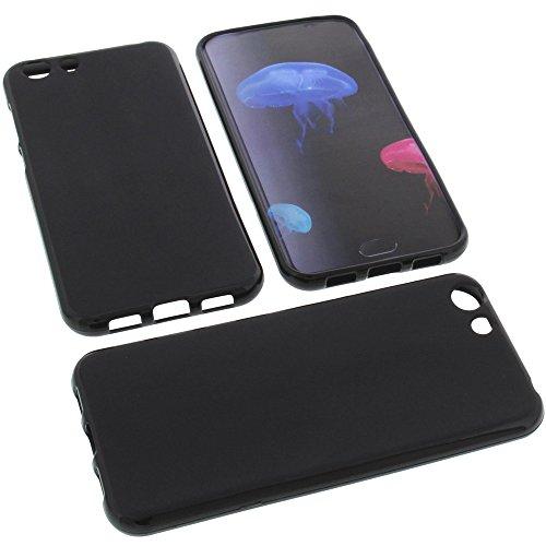 foto-kontor Tasche für Elephone S7 Gummi TPU Schutz Handytasche schwarz