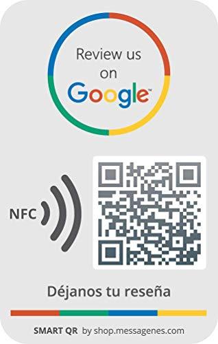 2 Google Aufkleber (QR/NFC) | Bewertungen in 1 Klick | Erhöhen Sie Rezensionen Ihres Geschäfts | Mit intelligenter QR ändern Sie jederzeit den Link