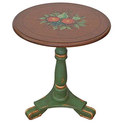 Furniture Coffee Table American Country Style Small Round Table Painted Solid Wood Retro Living Room Bar Small Coffee Table Side Table living room