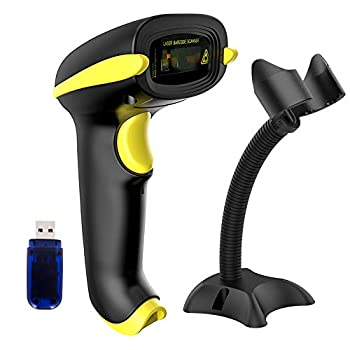 NADAMOO Wireless Barcode Scanner Compatible with Bluetooth USB 1D Bar Code Reader for Inventory Management Work with Windows/Mac OS/Linux Computer Made for iPhone iPad and Android