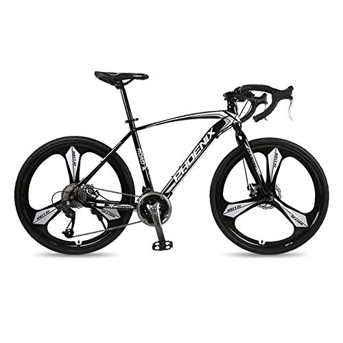 Bicicleta,Bicicleta de carretera,Bicicleta de carretera de acero de alto carbono de 27 velocidades,Bicicleta de carreras híbrida deportiva para adultos,Rueda 700C, No es fácil de deformar o desva