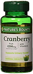 Nature's Bounty Cranberry Fruit 4200 mg, Plus Vitamin C, 120 Softgels (Pack of 2)