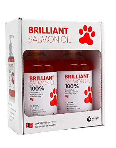 Hofseth Biocare Brilliant 100% Unrefined Fresh Norweigian Salmon Oil for your Dog or Cat