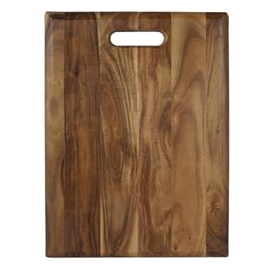 Architec Gripperwood Acacia Cutting Board, Non-Slip Gripper Feet, 12  by 16