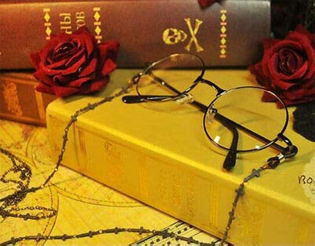 ページェントモート緩めるFidgetGear ゴシックコスプレロリータヴィンテージオーバルメガネフレーム平野ガラス眼鏡チェーン