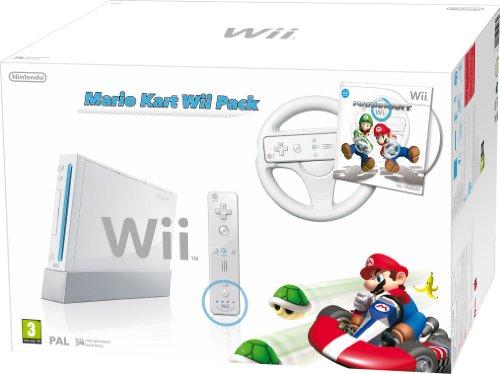 Wii - Console con Mario Kart, Volante e Wii Remote Plus, Bianco [Edizione: Regno Unito]