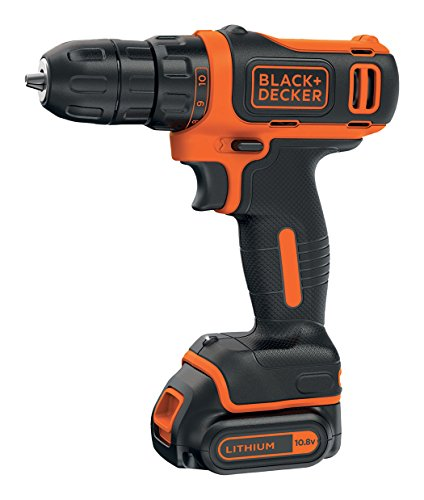 BLACK+DECKER BDCDD12K1B-QW - Taladro atornillador 10.8V, 26 Nm, con 2 baterías litio 1.5Ah y maletín