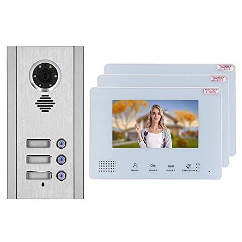 Portero Automático Antirrobo, Intercomunicador Visual Timbre Telefónico Con Videoportero Con 1 Máquina Para Exteriores (cámara) Para Videoportero