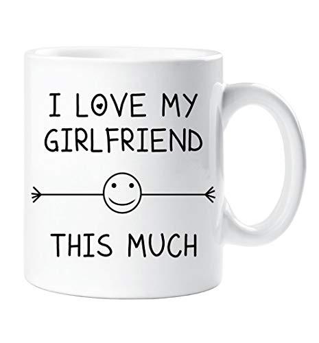 I love mi novia esta MUCHO Taza NOVIO San Valentín Regalo Cumpleaños Artículo de Navidad Humor Divertida