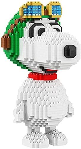 Bloque de Juguete - Dibujos Animados Snoopy Building Bricks para niños Pet Pet Modelo Mini Bloques Mini Bloques 3D Micro Ladrillo Juguete Niños Idea-Caja de Perro +