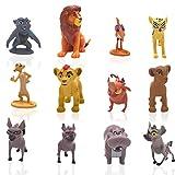 León Cake Topper - YUESEN 12 Piezas Lion King Mini Juego de Figuras Niños Mini Juguetes Baby Shower Fiesta de cumpleaños Pastel Decoración Suministros