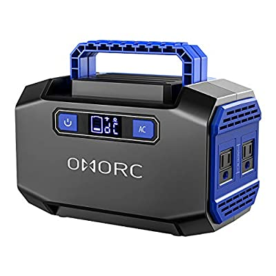 OMORC Mpow Portable Power Station 167Wh 45000mAh Portable Power Supply Portable Camping Generator Battery Backup with 2 AC Outlets(250W Peak),2 USB &3 DC Ports Solar Generators for Emergence CPAP