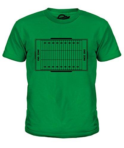 Candymix American Football Spielfeld Unisex Jungen Mädchen T Shirt, Größe 4 Jahre, Farbe Grün