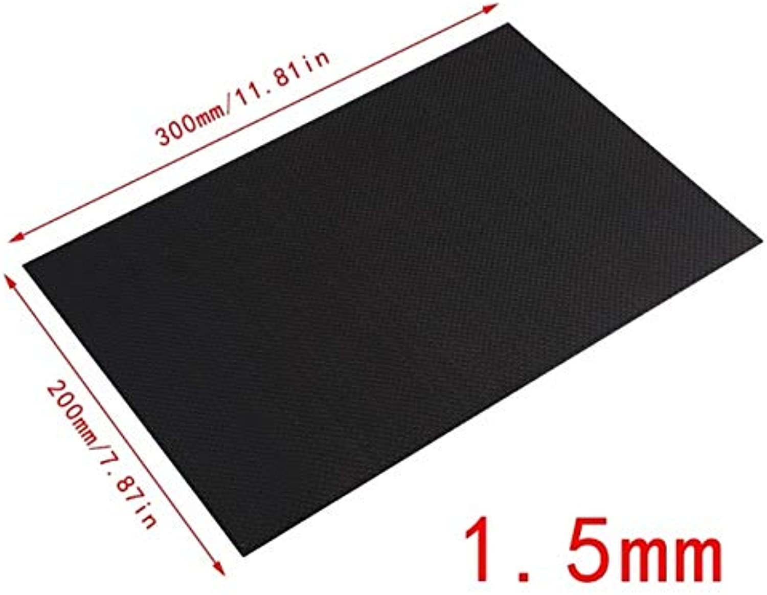 Laliva New 100% Real Glossy Carbon Fiber Plate Panel Sheet 3K Plain Weave 200X300mmM15  (color  glossy1.5mm)