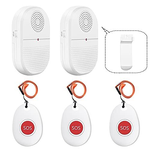 Mobiler Alarm Notruf Knopf/Pflegeruf Set/alarmanlage Haus/hausnotruf...