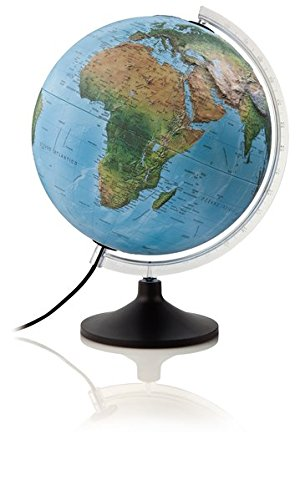 Solid R: Solid R - Globus mit 3-D-Oberfläche: Tischleuchtglobus mit 3-D-Oberfläche, stabile Kunststoffausstattung (Reliefglobus)