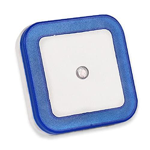 Lámpara de Pared LED de luz de la Noche del Sensor de Movimiento Auto Patio decoración de iluminación Luces cuadradas para bebé Azul de los niños