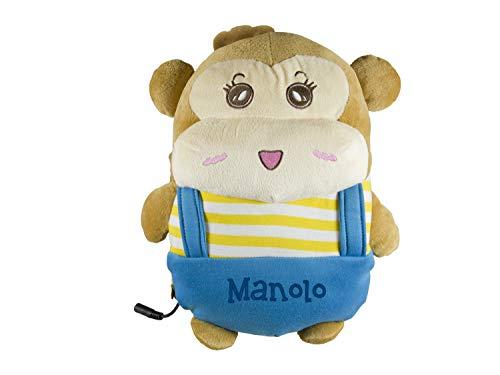 BEPER RI.435 Scaldamani Manolo, Scaldino elettrico a forma di orsetto in morbido tessuto di Peluche, termostato staccabile per la massima sicurezza