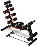 bigzzia Abdominal Trainer, Core & Abs Rocket Exercise Chair with Foam Roller-Handles-Level Adjustable-Fitness Crunches Machine-Workout-Training Bench (Style 1)
