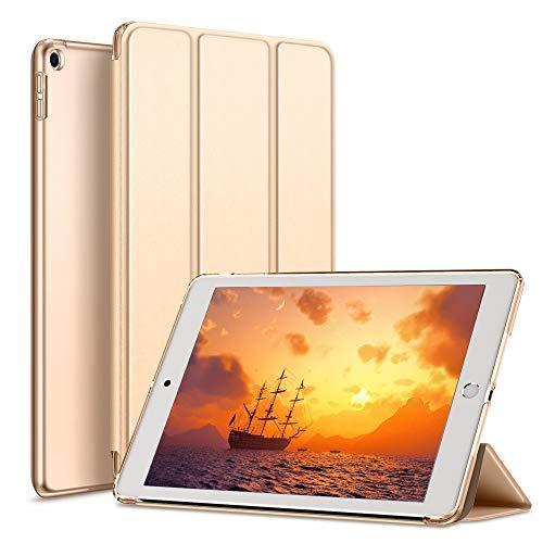 aoub Cover Kompatibel für iPad 9.7 2018/2017 Hülle, Smart Hülle Schlanke, Licht PC-Schutzhülle für die hintere Abdeckung mit Auto Wake/Sleep Fit iPad 9,7 Zoll iPad 5./6. Generation Hülle,Gold