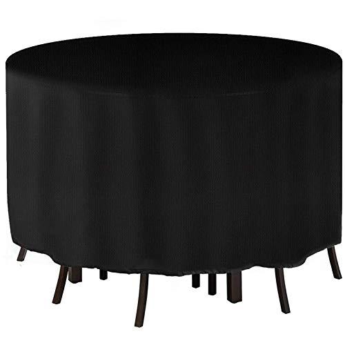 YGWQ Cubierta para Muebles de Jardín, Oxford Fabric Impermeable Redonda Cubierta Mesa Patio,Anti Rayos UV Protección contra Nieve Cubierta Protectora de Muebles Exterior