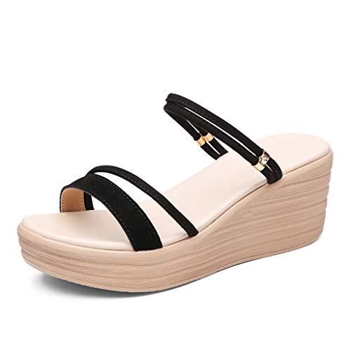 V-schoen vrouwen zomer dragen wilde slijtage hoge hak dikke onderste mode