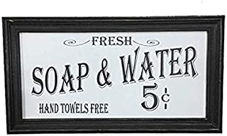 Ohio Wholesale Vintage Soap & Water Bath Sign Distressed Wood Old-Fashioned Script..