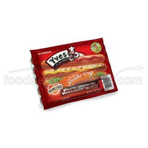 Yves Veggie Cuisine Original Meatless Jumbo Hot Dog, 13.4 Ounce -- 12 per case.