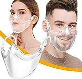 2 Stück Gesichtsschutz - Plexiglas - Waschbare Wiederverwendbare - Visier für Transparente Offene Face - Shield Gesichtsschutz - Sicherheitsgesichtsschutz