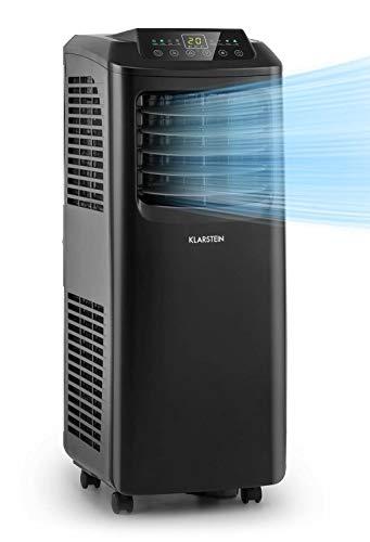 KLARSTEIN Pure Blizzard Smart - climatiseur mobile 3-en-1: climatiseur/déshumidificateur/ventilateur, WiFi: contrôle par appli, CEE A, kit joint de fenêtre, minuterie 24h, 7000 BTU - noir