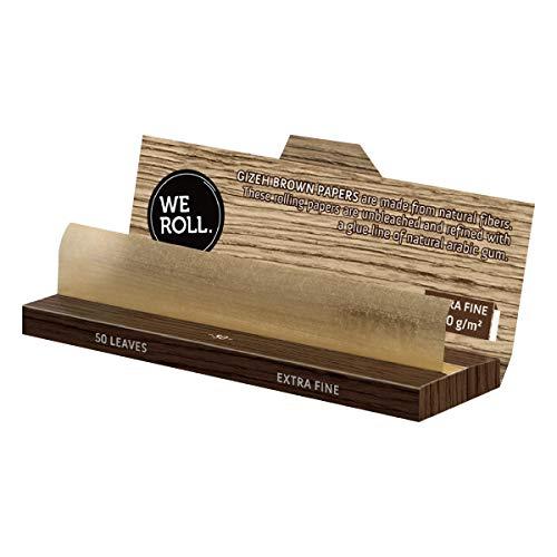GIZEH(ギゼ)ブラウンシングルスローバーニング手巻きタバコペーパー50枚×5冊パック7-25001-75