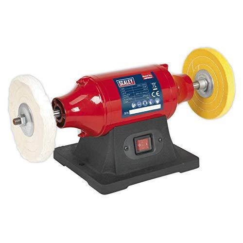 SEALEY BB1502 polijstmachine voor bevestiging op de werkbank, 150 mm, 370 W/230 V