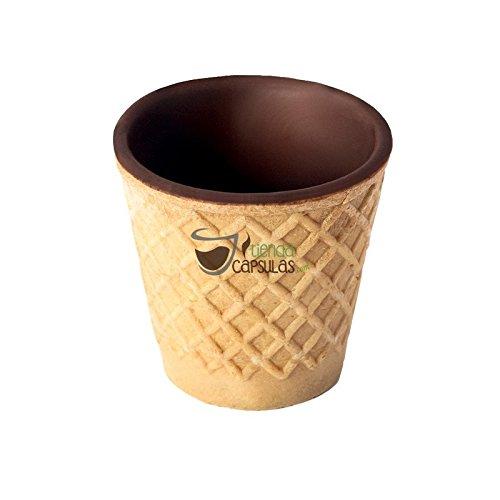20 Chocup, Mini Bicchiere Tazzina Cialda al Cioccolato per Caffe, Cioccolata - 30ml