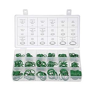 sourcing map kit de surtido de juntas tóricas, 270 piezas de sellado de goma flúor conjunto verde