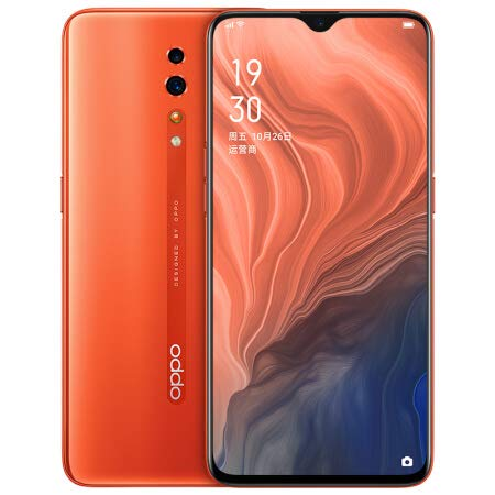 Original Oppo Reno Z 6G+256G Mobile Phone Helio P90 Octa Core Android 9 6.4' AMOLED NFC IPS 48.0MP+32.0MP Camera 4035mAh VOOC 3.0 Support Google by-(Real Star Technology) (Orange)