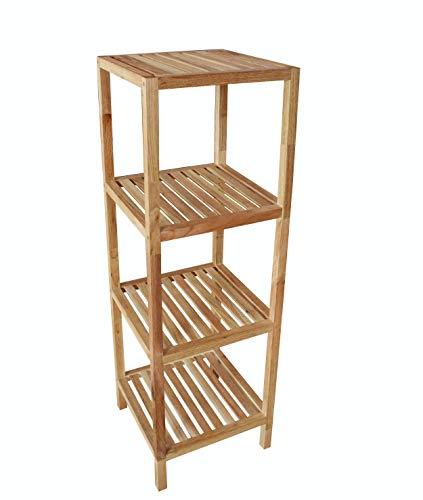Dynamic24 massief hout walnoot badkamerrek plank badkamer badkamer staande plank meubels geolied
