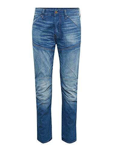 G-STAR RAW Herren 5620 Elwood 3D Straight Jeans, Blau (Medium Aged A315-071), 30W / 34L