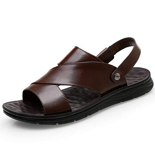 N-B Nuevas Zapatillas de Hombre cómodas y Transpirables adecuadas para Tus pies Zapatos de Playa de Piel de Vaca de Capa Superior de Cuero Transpirable Informal para Hombre