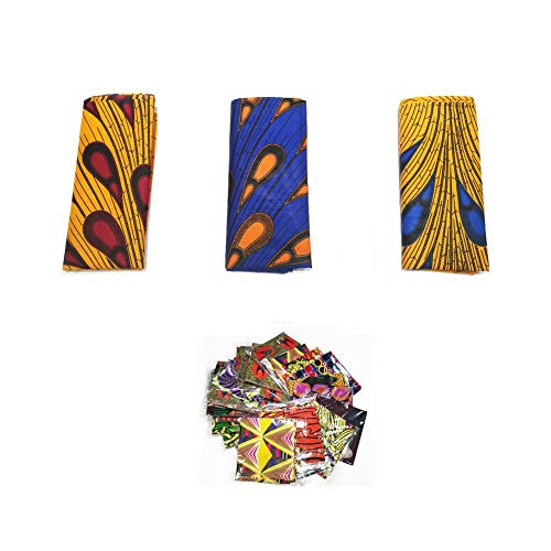 """African Head Wrap Extra Long 72""""x22""""Wax Print Head Scarf Tie for Women (hrluckybag )"""