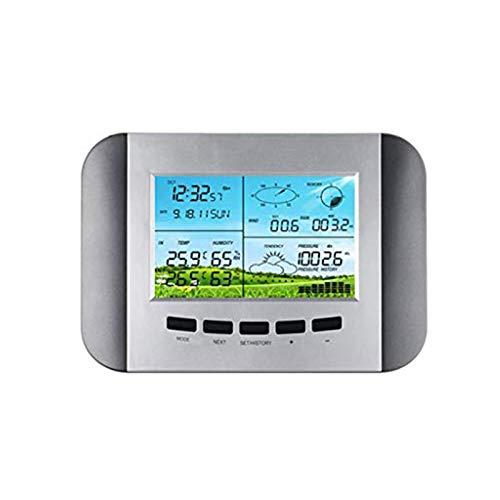 ZLGP Automatische Rf 433MHz Startseite Wetterstation Uhr mit Solarenergie und PC-Schnittstelle Wettervorhersage Maschine Innen- und Außentemperatur mit USB-Anschluss an den Computer.