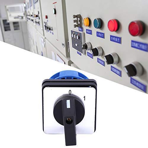 BERM BEM28-25/1 C02 Interruptor de cambio universal, interruptor selector, 690V 25A Interruptor de leva giratorio selector de 2 posiciones, para fábricas, talleres, equipos de producción industrial