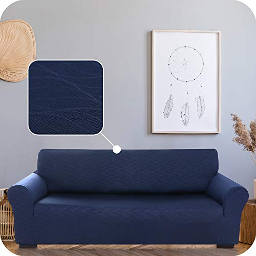 UMI. by Amazon Funda para Sofa Decorativa Suave de Salon Comedor 3 Plazas Azul Marino