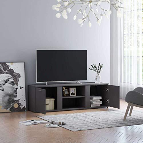 vidaXL Mueble para TV Mesa Salón Comedor Centro Televisión Televisor Equipo de Música Armario Bajo Almacenaje Soporte Aglomerado Gris 120x34x37cm
