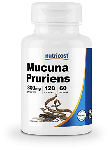 Nutricost Mucuna Pruriens 400mg, 120 Capsules - 800mg Per Serving - Made with High-Quality Mucuna Pruriens Seed